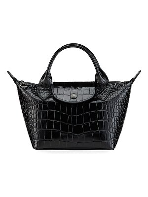 Longchamp Le Pliage Cuir Croco Small Tote Bag