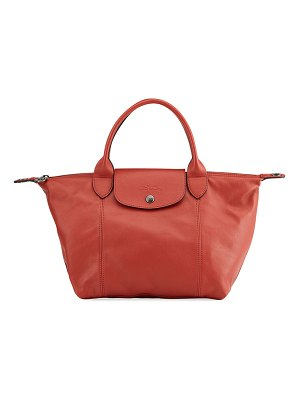 Longchamp Le Pliage Cuir Small Leather Tote Bag