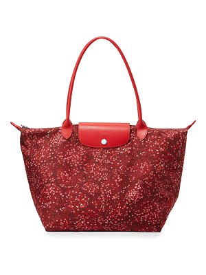 Longchamp Le Pliage Fleur Large Shoulder Tote Bag