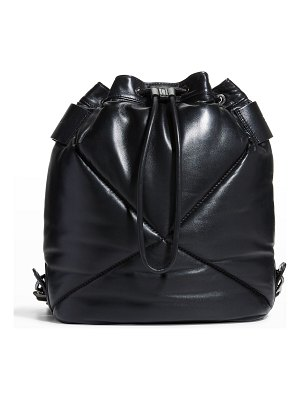 Longchamp Le Pliage Quilted Lambskin Drawstring Backpack