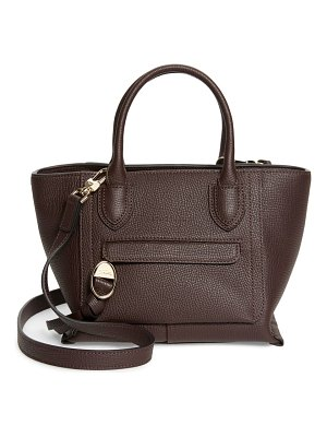 Longchamp small mailbox leather top handle bag