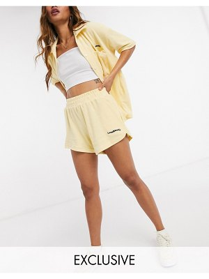 Loose Threads relaxed lounge shorts in terry cloth set-yellow