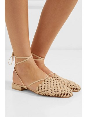 LOQ costa lace-up woven leather flats