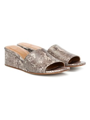 LOQ sol snake-effect leather sandals