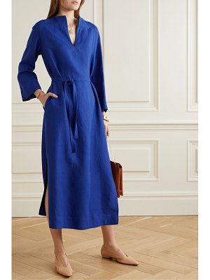 Loro Piana belted flax midi dress
