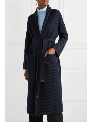 Loro Piana belted ribbed cashmere cardigan