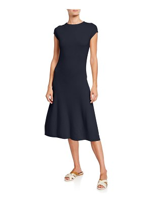 Loro Piana Cashmere Cap-Sleeve Dress