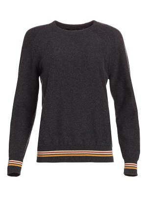 Loro Piana cashmere striped trim sweatshirt