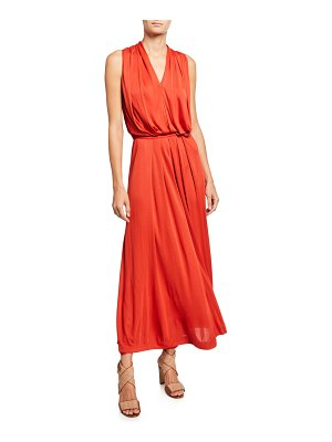 Loro Piana Draped Jersey Sleeveless Dress