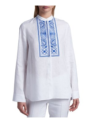 Loro Piana Embroidered Linen Shirt