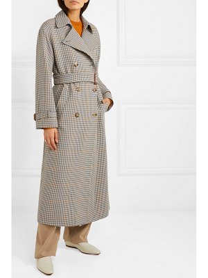 Loro Piana houndstooth wool trench coat