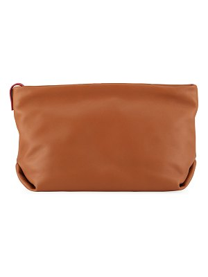 Loro Piana Inside-Out Soft Napa Leather Clutch