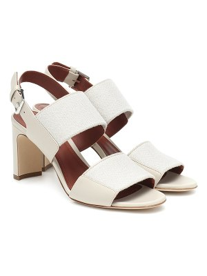 Loro Piana kalahari leather and linen sandals