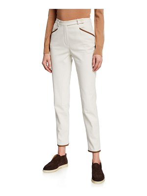 Loro Piana Leather Trim Pants