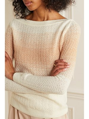 Loro Piana ombré cashmere and silk-blend sweater