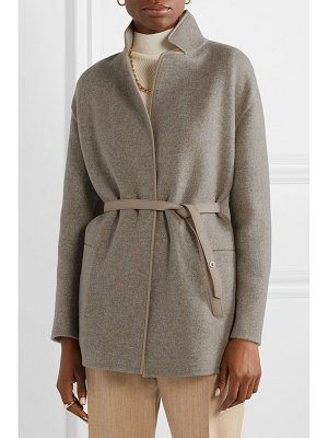 Loro Piana reversible leather-trimmed cashmere jacket