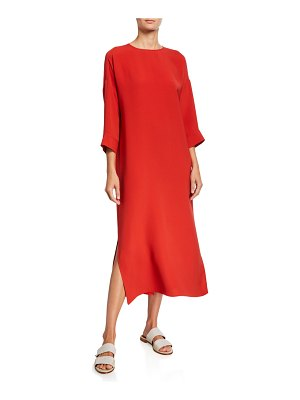 Loro Piana Silk Maxi Sheath Dress