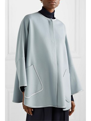 Loro Piana silk satin-trimmed cashmere cape