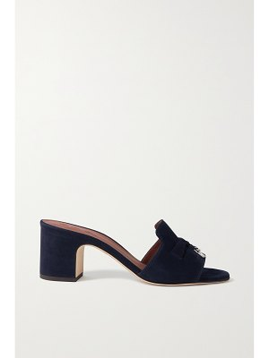Loro Piana summer charms embellished suede mules
