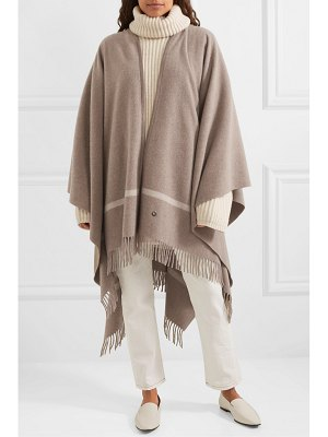 Loro Piana twelve fringed striped cashmere cape