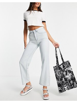 Lost Ink relaxed fit wide leg jeans in light wash-blues