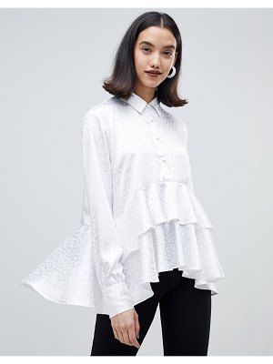 Lost Ink shirt with ruffle layer