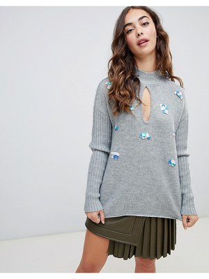 Lost Ink swing sweater with sequin embellishment