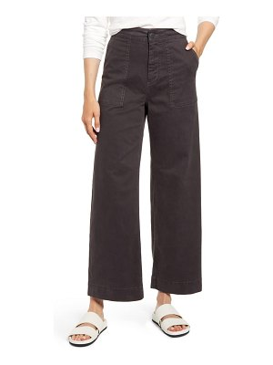LOU & GREY high waist wide leg brushed twill pants