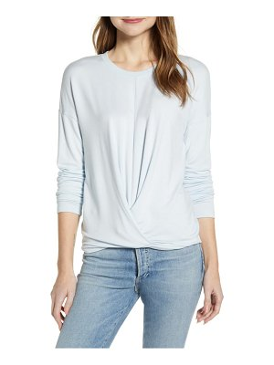 LOU & GREY signature soft twist front pullover