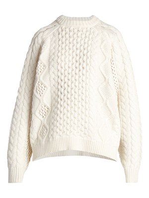 Loulou Studio ciprianu cable knit wool & cashmere sweater
