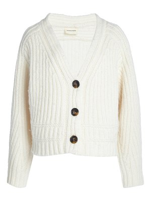 Loulou Studio corte oversized ribbed wool-blend cardigan