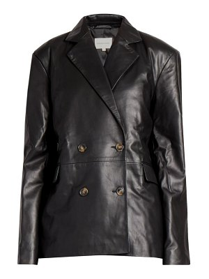 Loulou Studio davao double breasted leather blazer jacket