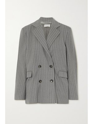 Loulou Studio ficaja double-breasted pinstriped stretch-wool blazer