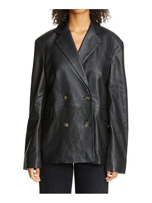 Loulou Studio oversized double breasted leather blazer