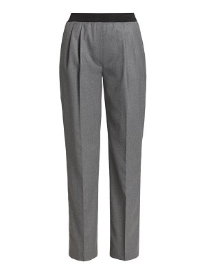 Loulou Studio palazzu pleated wool-blend pull-on pants