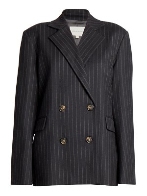 Loulou Studio pinstripe stretch-wool double breasted blazer jacket