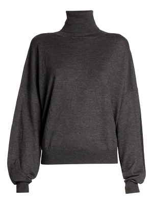 Loulou Studio tizzano lightweight marled wool & cashmere turtleneck