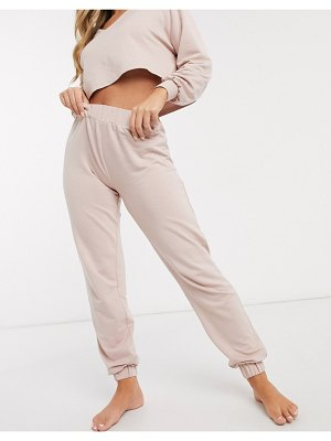 Loungeable mix & match slim jogger in pink