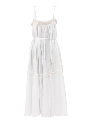 LOUP CHARMANT anacapri smocked organic cotton dress