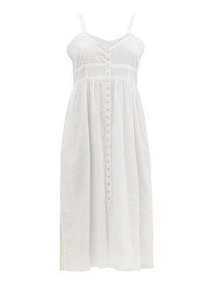 LOUP CHARMANT avalon ruffled cotton-voile dress
