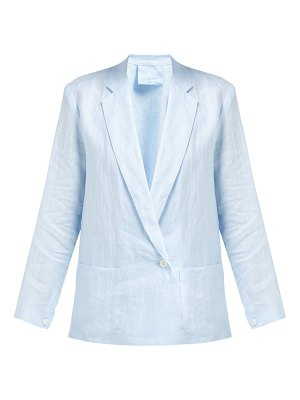 LOUP CHARMANT crossover-front linen blazer