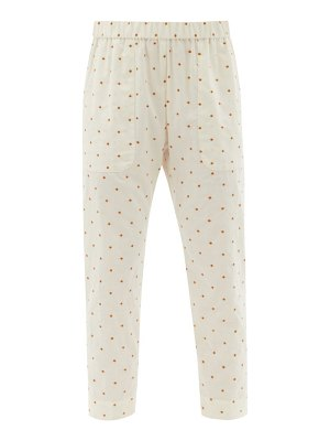 LOUP CHARMANT dot-embroidered cotton trousers