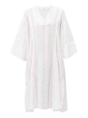 LOUP CHARMANT fez jacquard-cotton kaftan dress