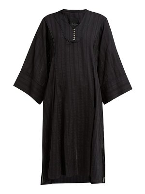 LOUP CHARMANT fez stripe-woven cotton kaftan