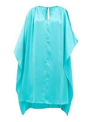 LOUP CHARMANT juno cut-out shoulder silk kaftan
