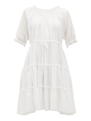 LOUP CHARMANT kassos ruffled cotton-voile dress