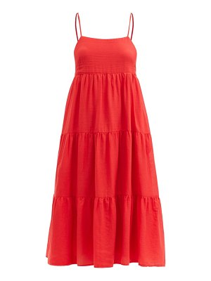 LOUP CHARMANT murax tiered organic-cotton voile dress