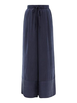 LOUP CHARMANT olympia hammered-silk palazzo trousers