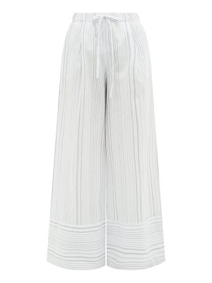 LOUP CHARMANT olympia striped-cotton palazzo trousers
