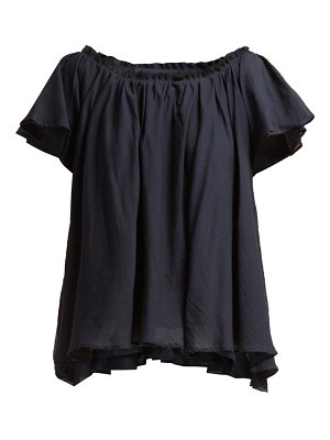 LOUP CHARMANT ruffle trimmed cotton top